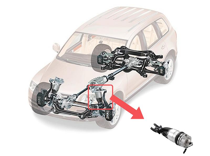 air suspension strut installation1